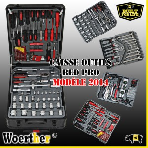 CAISSE A OUTILS RED PRO WOERTHER