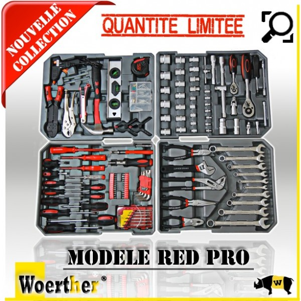 caisse outils woerther red pro. Black Bedroom Furniture Sets. Home Design Ideas