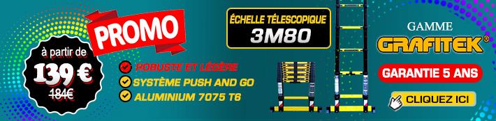Solde échelle télescopique 3m80