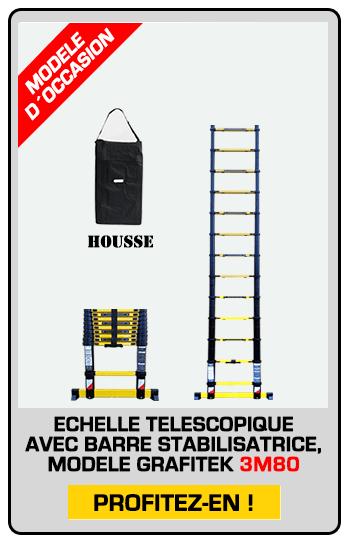 échelle télescopique modèle exposition 3M80 avec housse