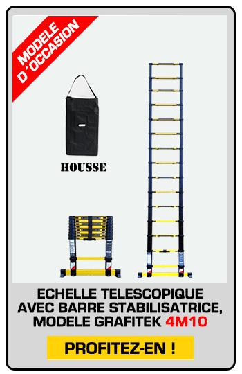 échelle télescopique modèle exposition 4M10 avec housse