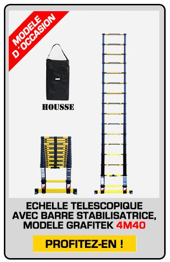 échelle télescopique modèle exposition 4M40 avec housse