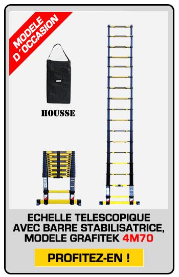 échelle télescopique modèle exposition 4M70 + Housse