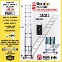 ECHELLE 4M10 AVEC BARRE STABILISATRICE + HOUSSE