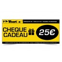 CHÈQUE CADEAU WOERTHER 25 EUROS