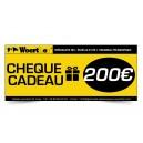 CHÈQUE CADEAU WOERTHER 200 EUROS