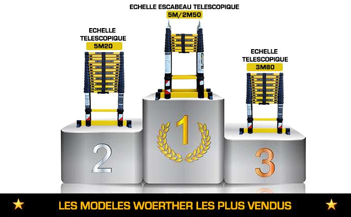 Meilleurs vente échelle télescopique Woerther
