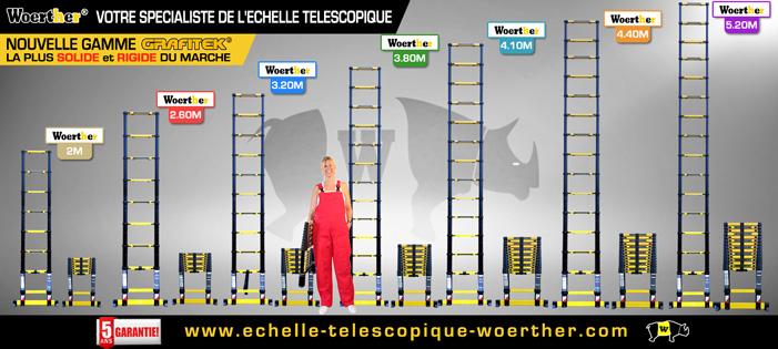 Echelle Télescopique Grafitek