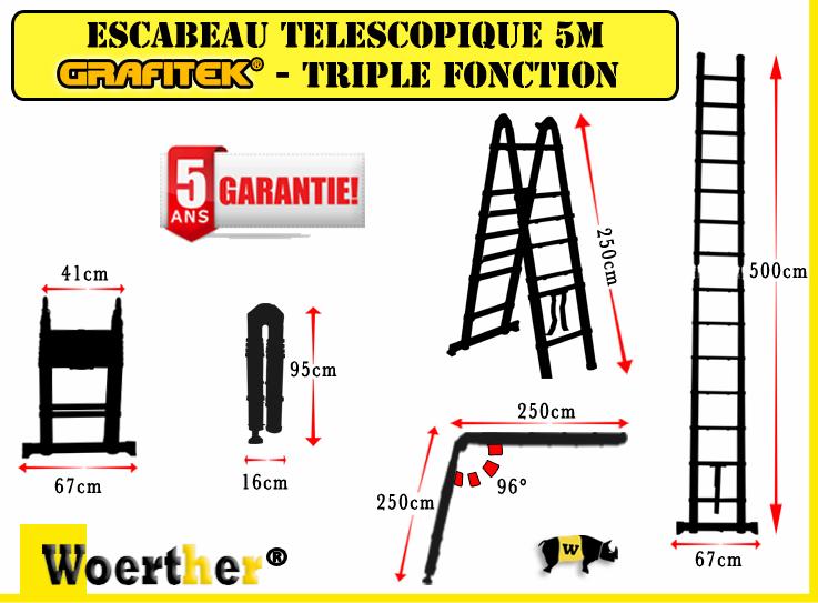 Escabeau Et échelle Télescopique Pack Trio Woerther