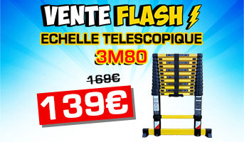 Vente flash échelle 3m80 woerther