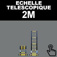 Echelle télescopique 2 mètres, échelle pliante 2 mètres