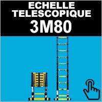 Echelle télescopique 3,80 mètres Woerther