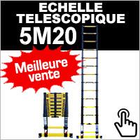 Echelle télescopique 5,20 mètres Woerther