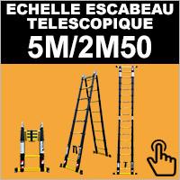 Escabeau télescopique 5M/2M50